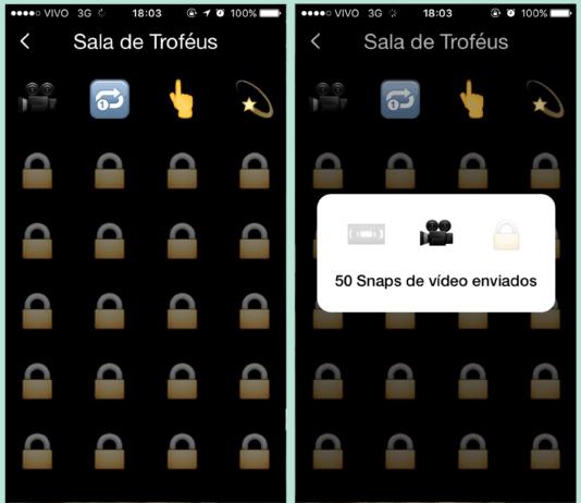 quais são e como liberar os troféus do snapchat