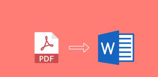 Como converter pdf para word